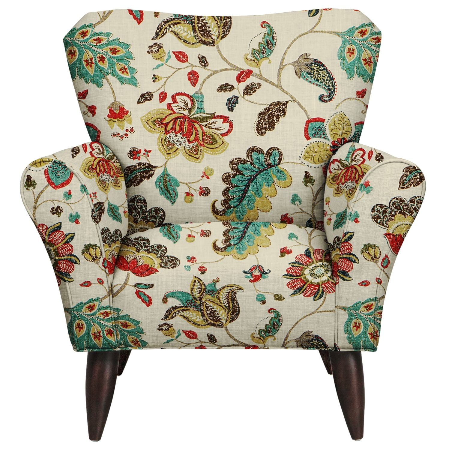 Living Room Furniture - Jessie Chair w/ Spring Mix Poppy Fabric
