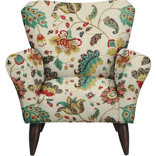 Jessie Chair w/ Spring Mix Poppy Fabric
