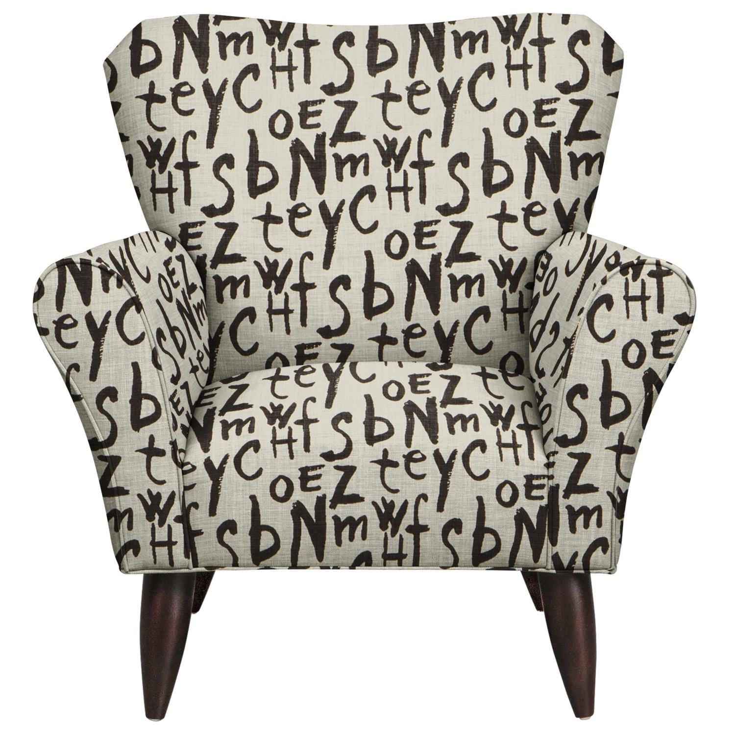 Jessie Chair w/ American Grafitti Raven Fabric