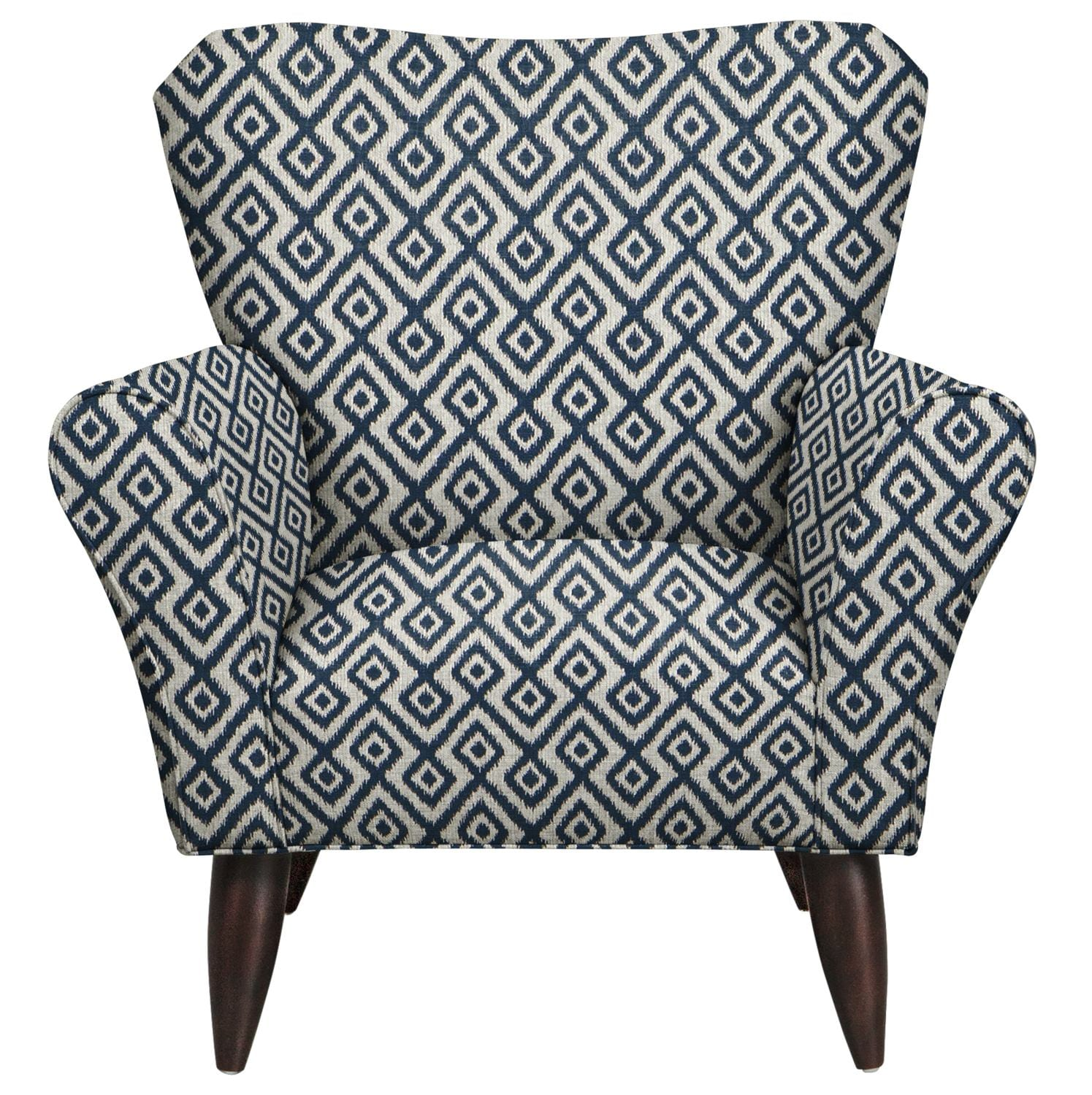 Living Room Furniture - Jessie Chair w/ Tate Indigo Fabric