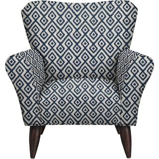Jessie Chair w/ Tate Indigo Fabric