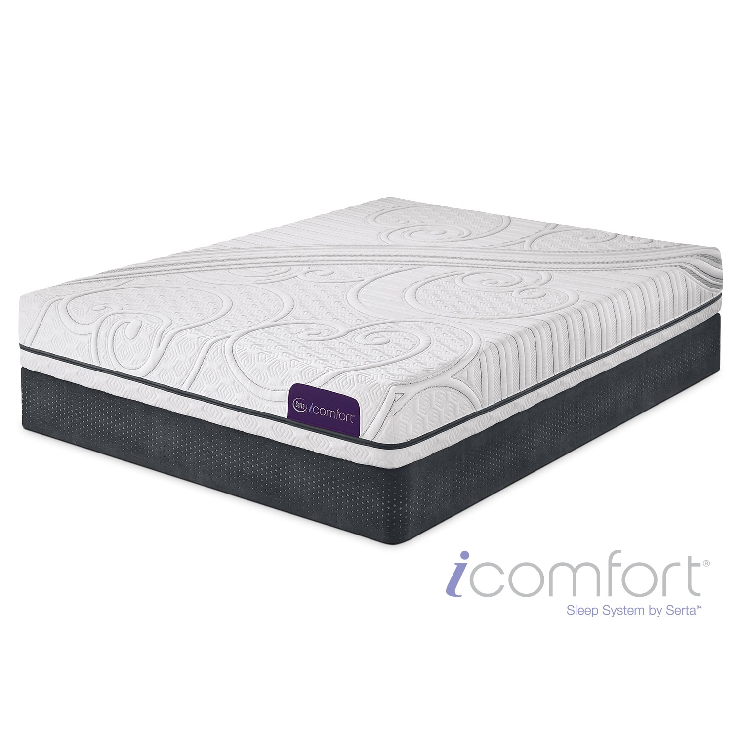 Mattresses and Bedding - iComfort Foresight Twin Mattress/Foundation Set