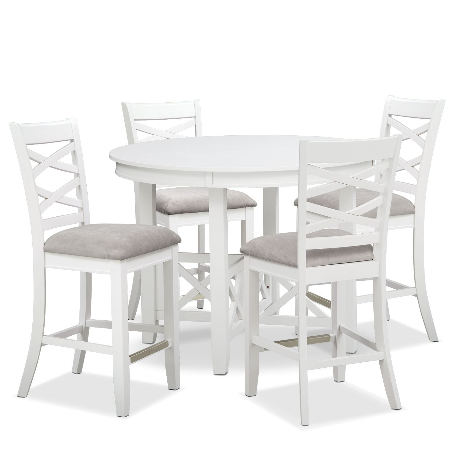Americana White 5 Pc. Counter-Height Dinette