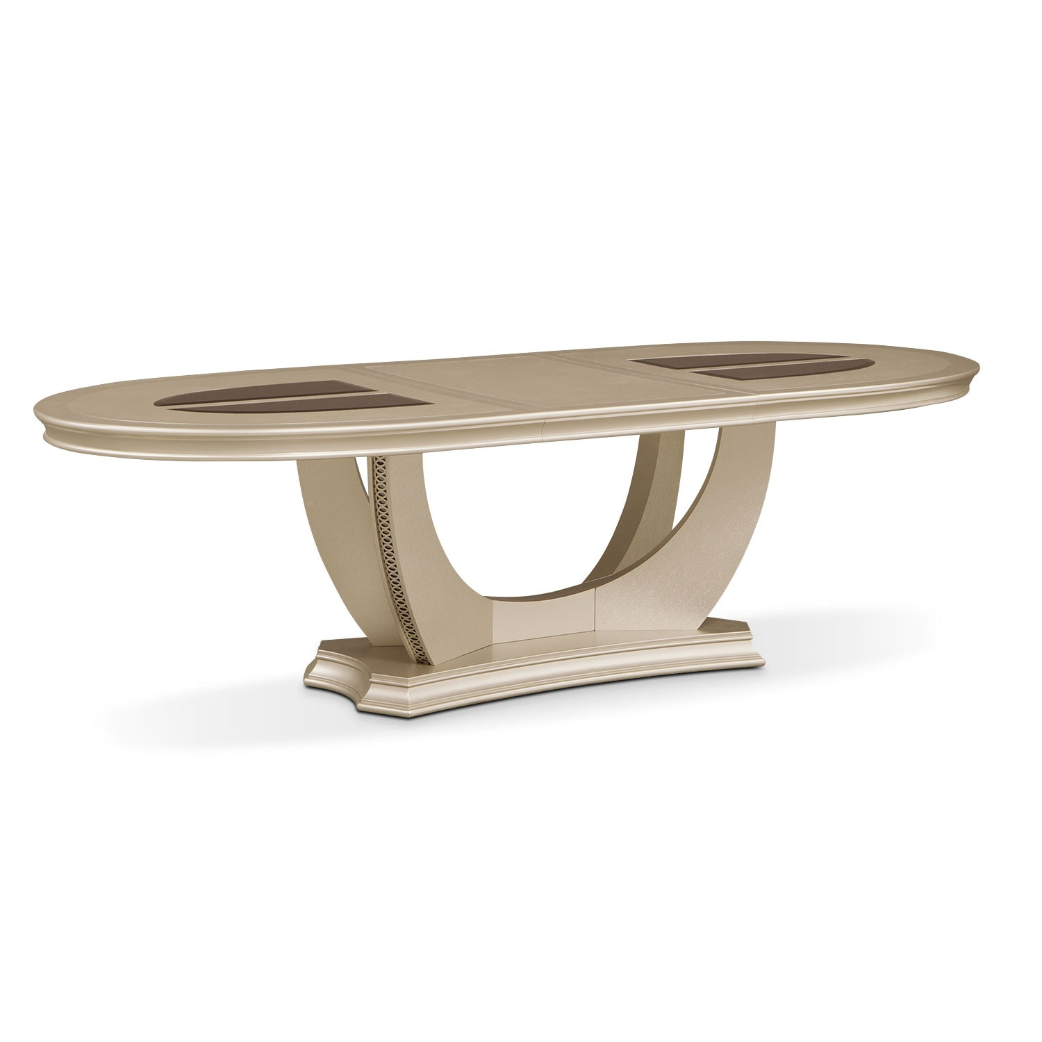 Dining Room Furniture - Allegro Oval Dining Table - Platinum