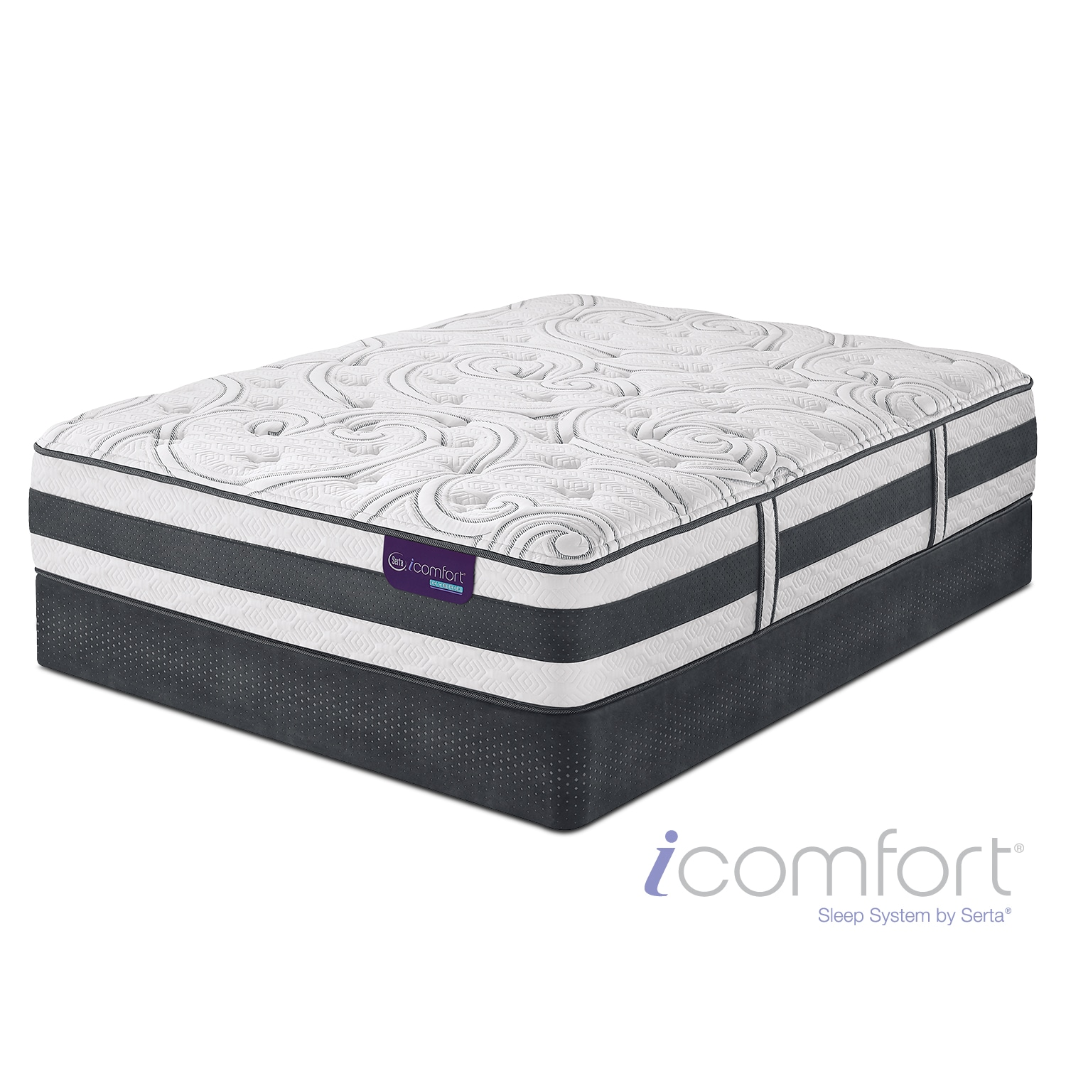 [Applause II Plush Full Mattress/Foundation Set]