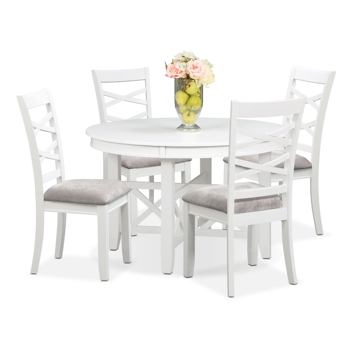 Americana White 5 Pc. Standard-Height Dinette