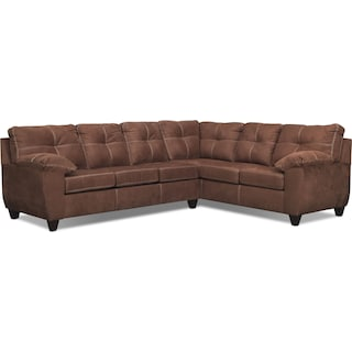 Ricardo 2-Piece Innerspring Sleeper Sectional with Right-Facing Sofa - Coffee