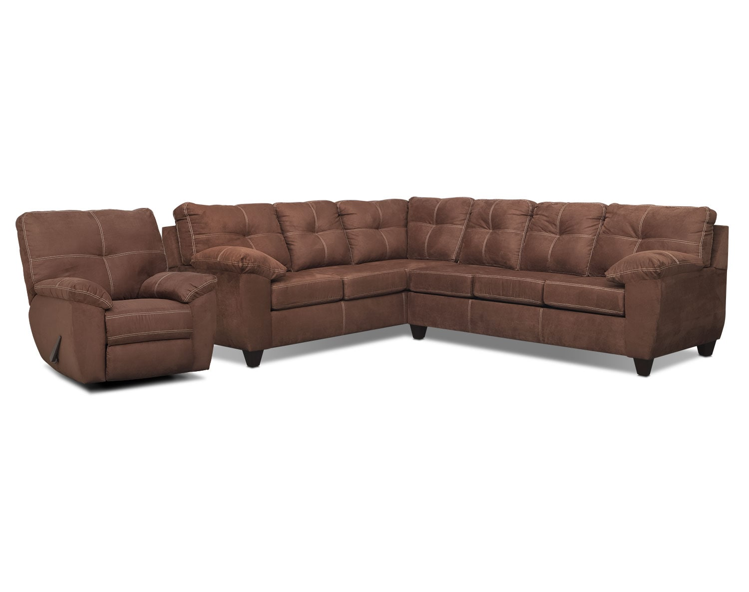 The Rialto Sectional Collection - Coffee