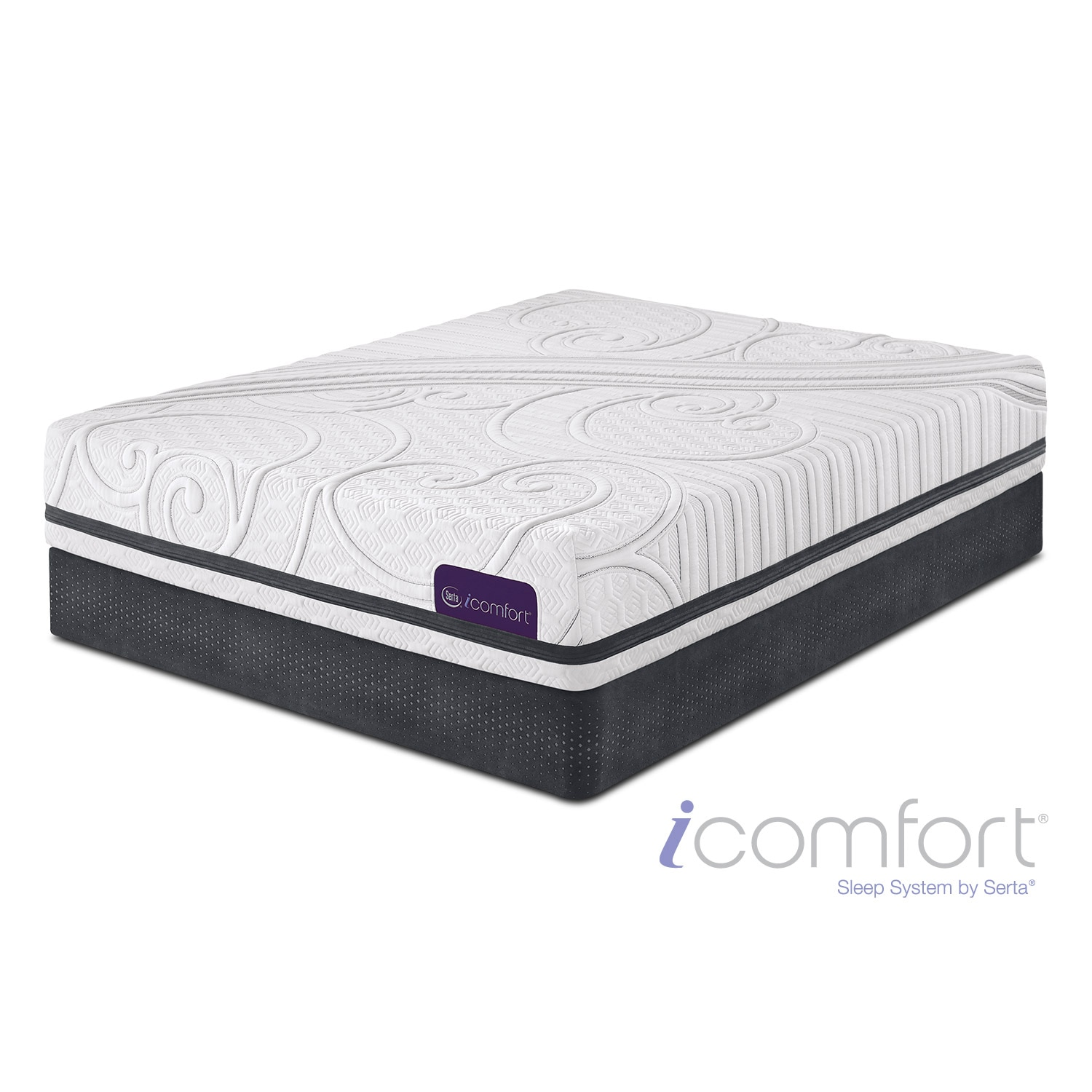 Mattresses and Bedding - Savant III Firm Full Mattress/Foundation Set