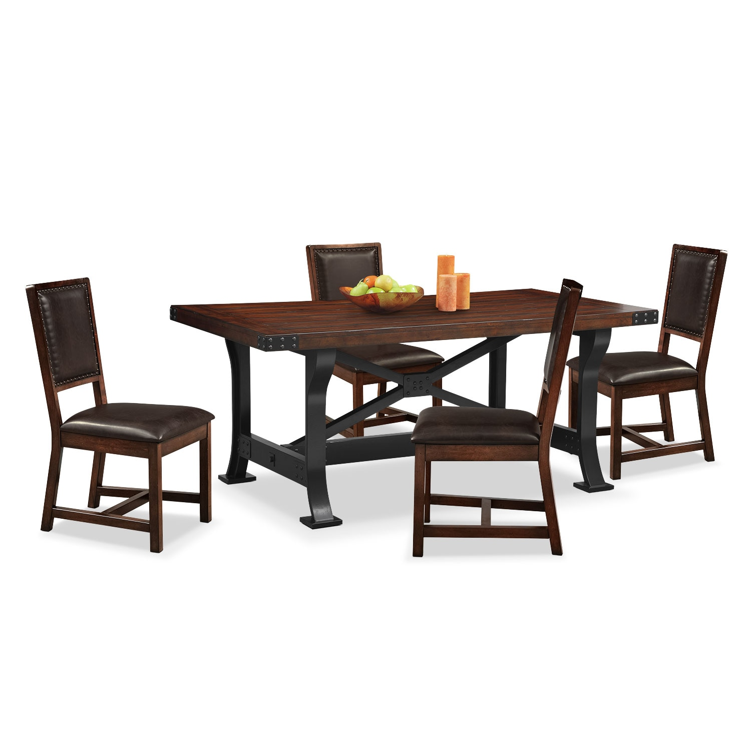 Merveilleux Dining Room Furniture   Newcastle Dining Table And 4 Side Chairs   Mahogany