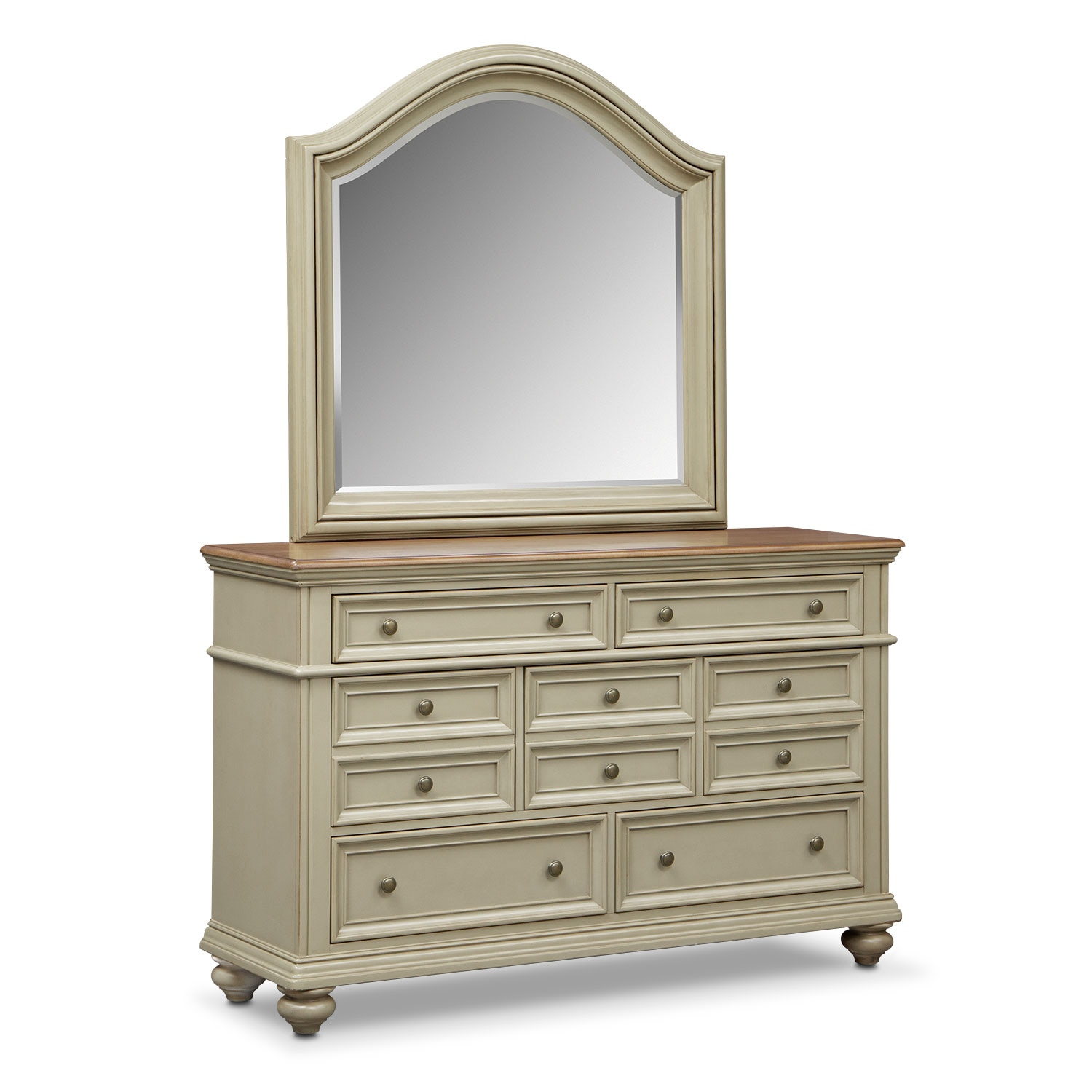 East Hampton Dresser and Mirror - Sage