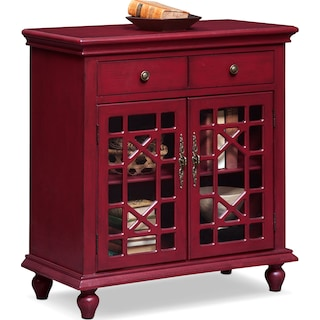Grenoble Accent Cabinet - Red