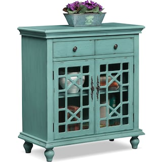 grenoble accent cabinet teal value city furniture and mattresses. Black Bedroom Furniture Sets. Home Design Ideas