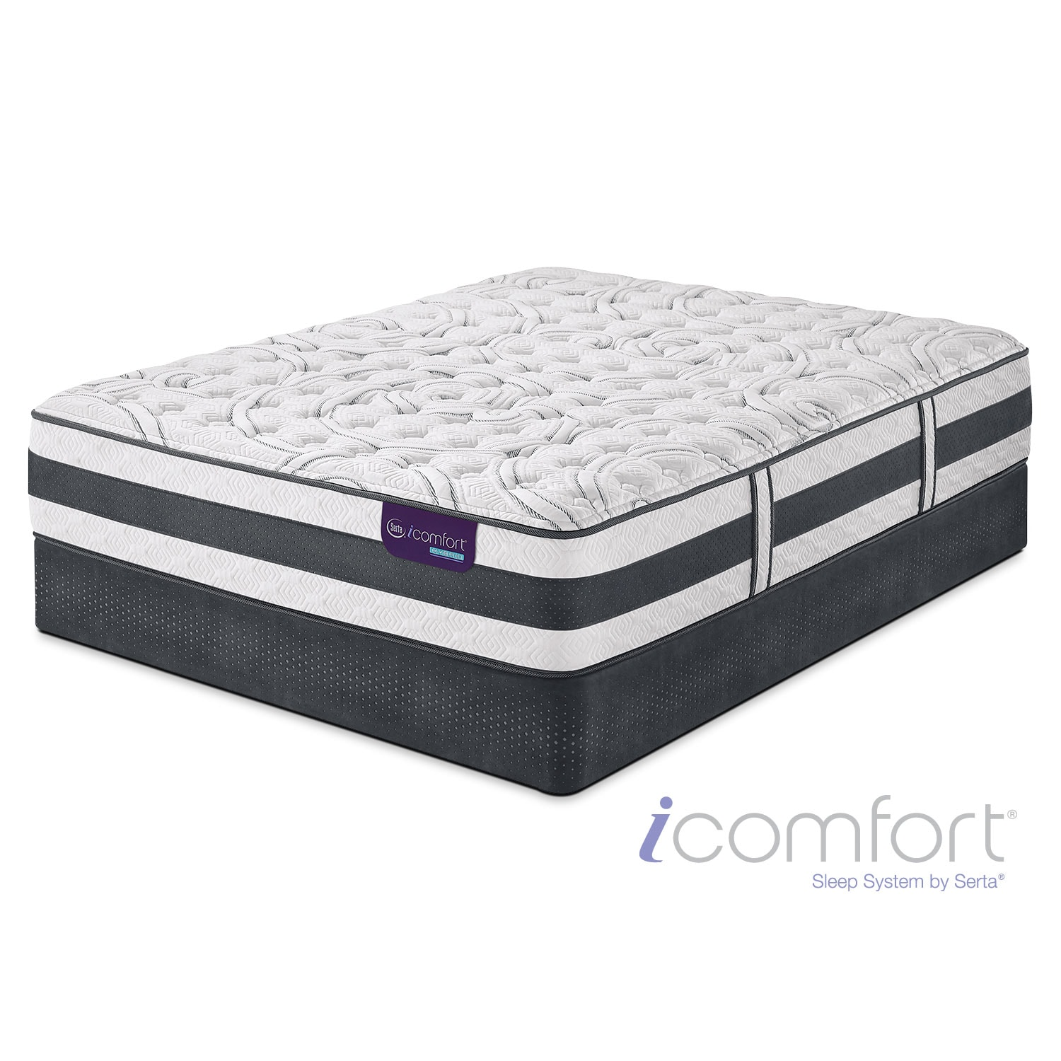 [Applause II Firm Full Mattress/Foundation Set]