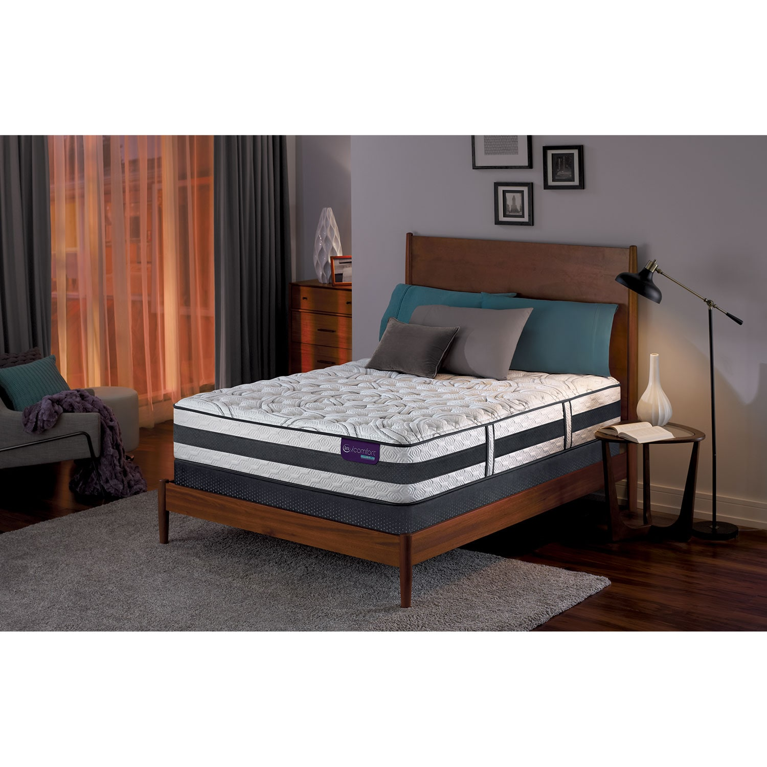 Applause II Firm Queen Mattress and Foundation Set
