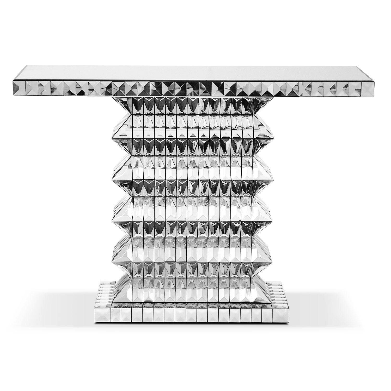 Aurora Sofa Table Clear Value City Furniture
