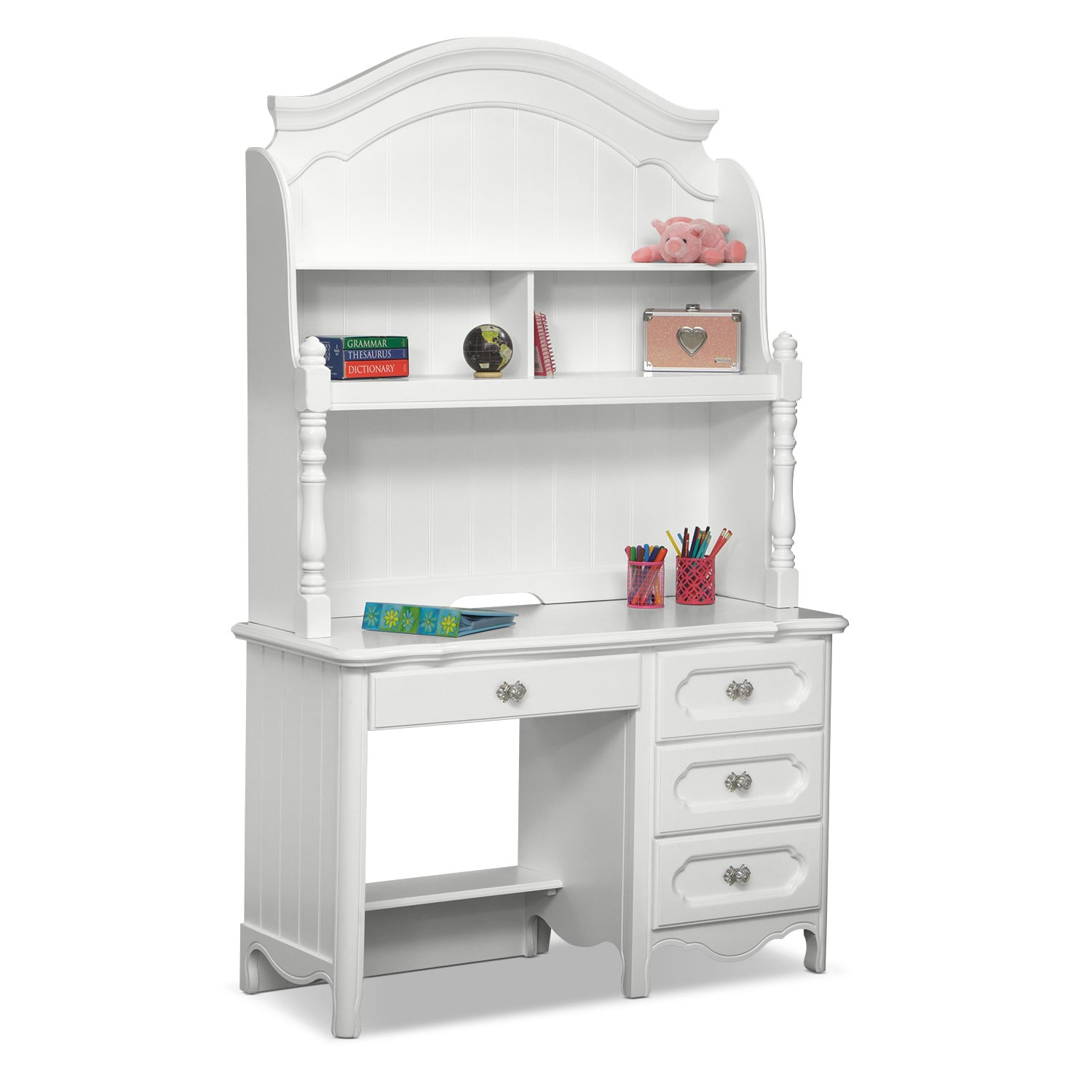 Carly Desk And Hutch White