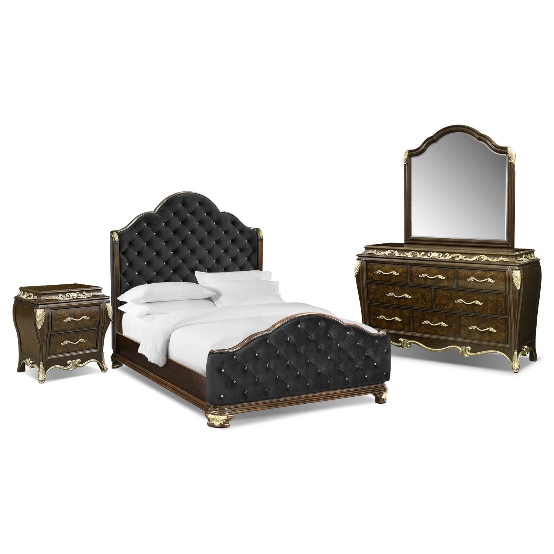 Bedroom Furniture - Anastasia 6 Pc. Queen Bedroom Package