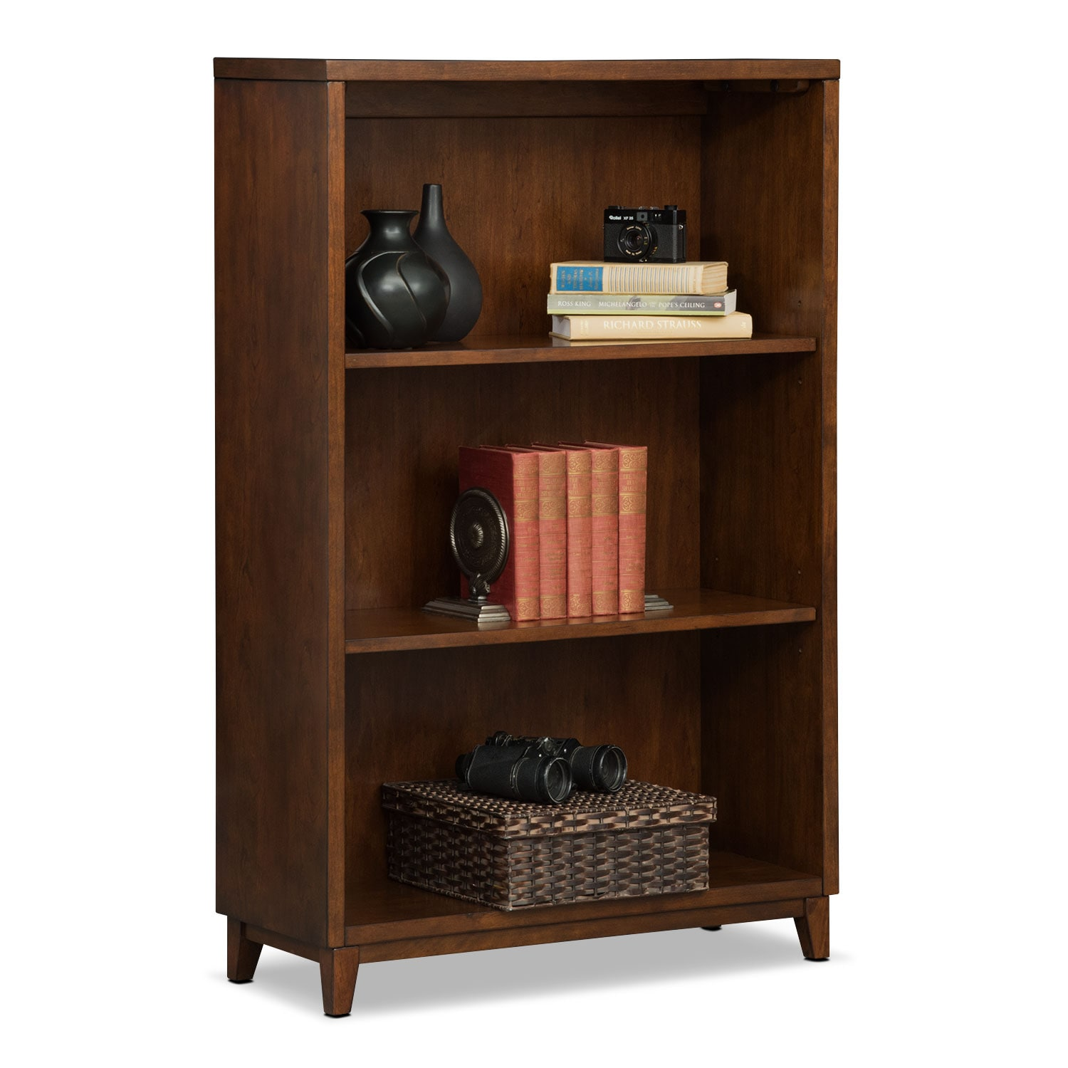 "Home Office Furniture - Oslo 46"" Bookcase - Cherry"