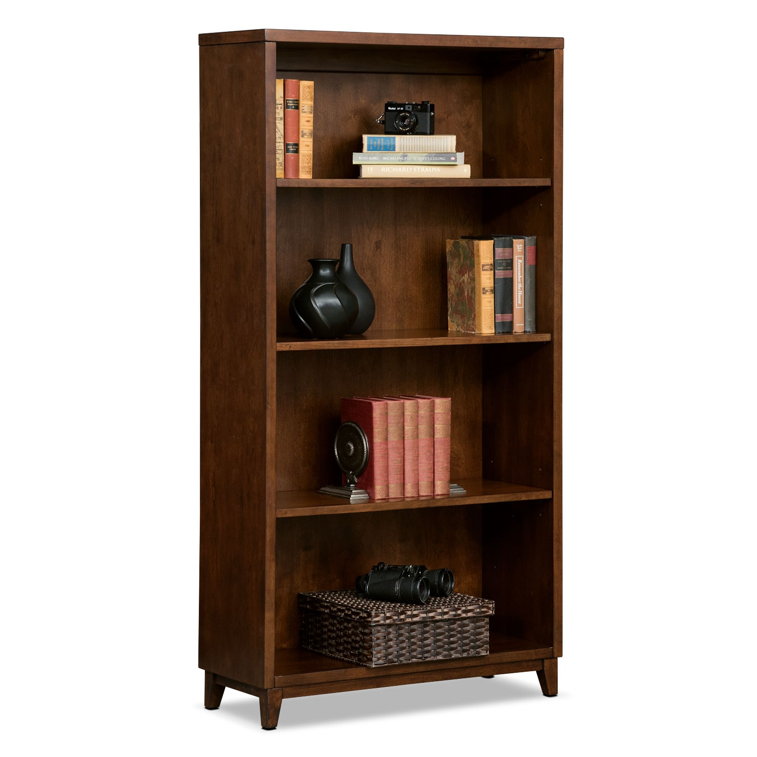 "Home Office Furniture - Oslo Cherry 58"" Bookcase"