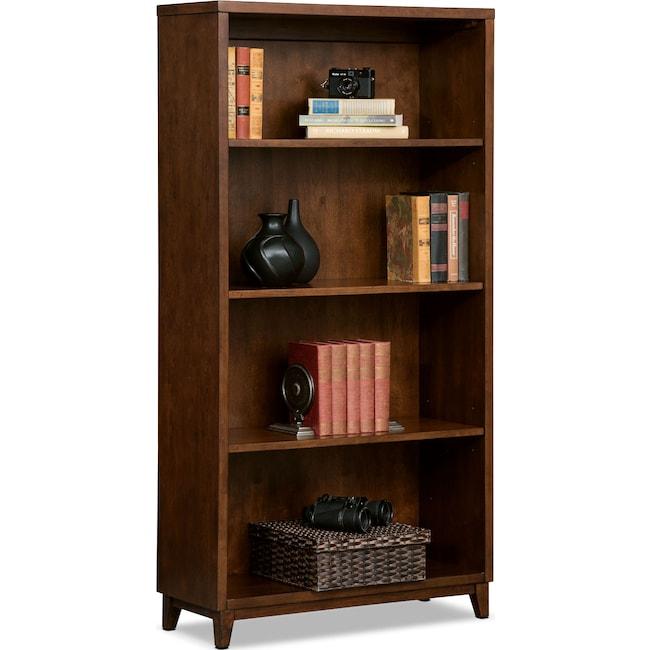 "Home Office Furniture - Oslo 58"" Bookcase - Cherry"