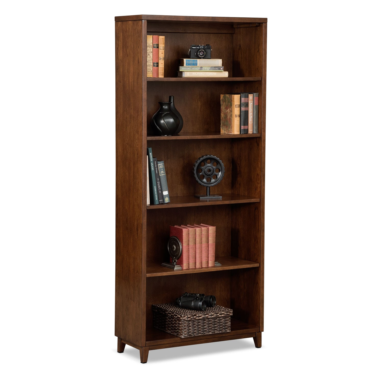 "Home Office Furniture - Oslo Cherry 70"" Bookcase"