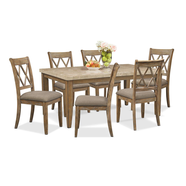 Dining Room Furniture - Sedona Gray 7 Pc. Dining Room