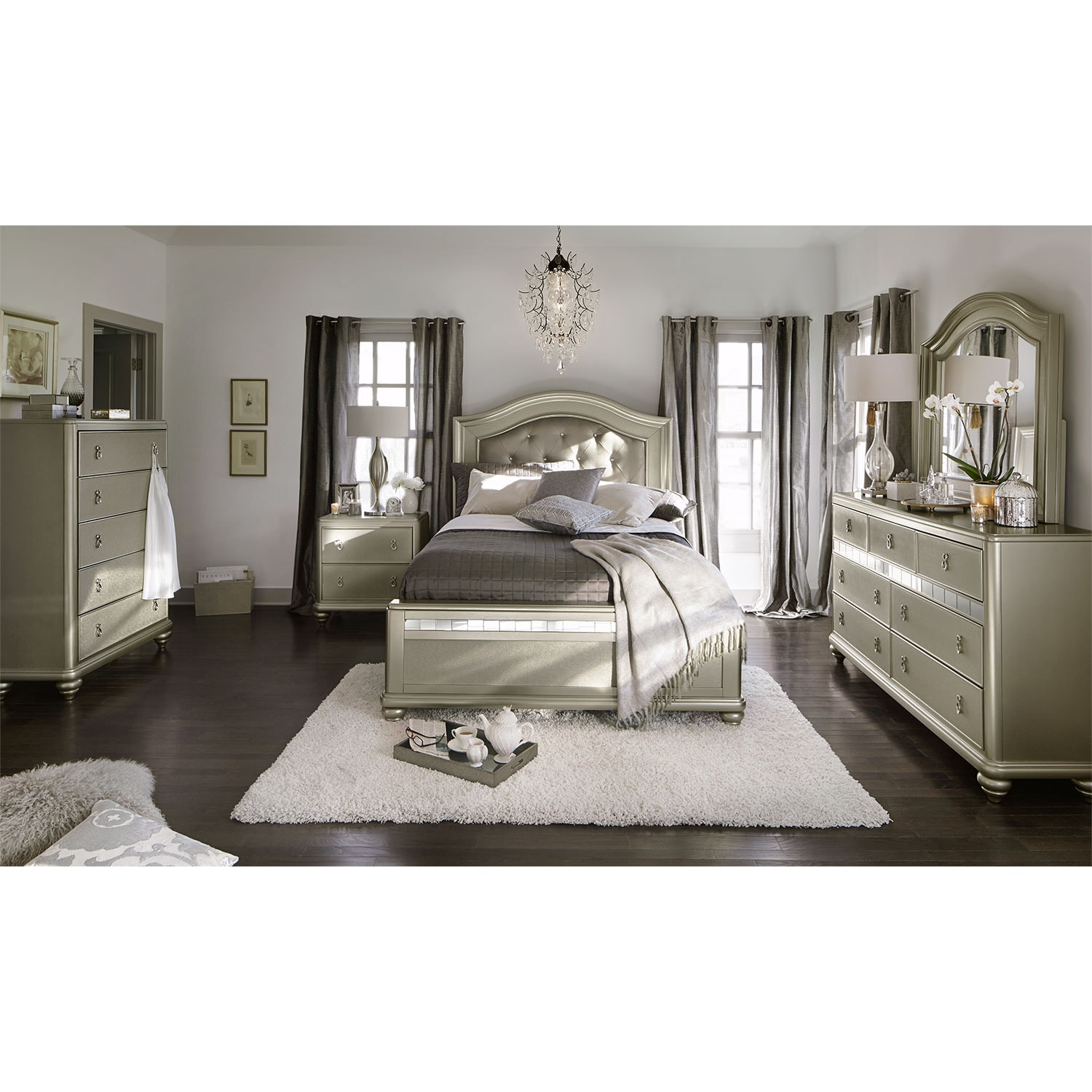 Serena Queen Bed Platinum