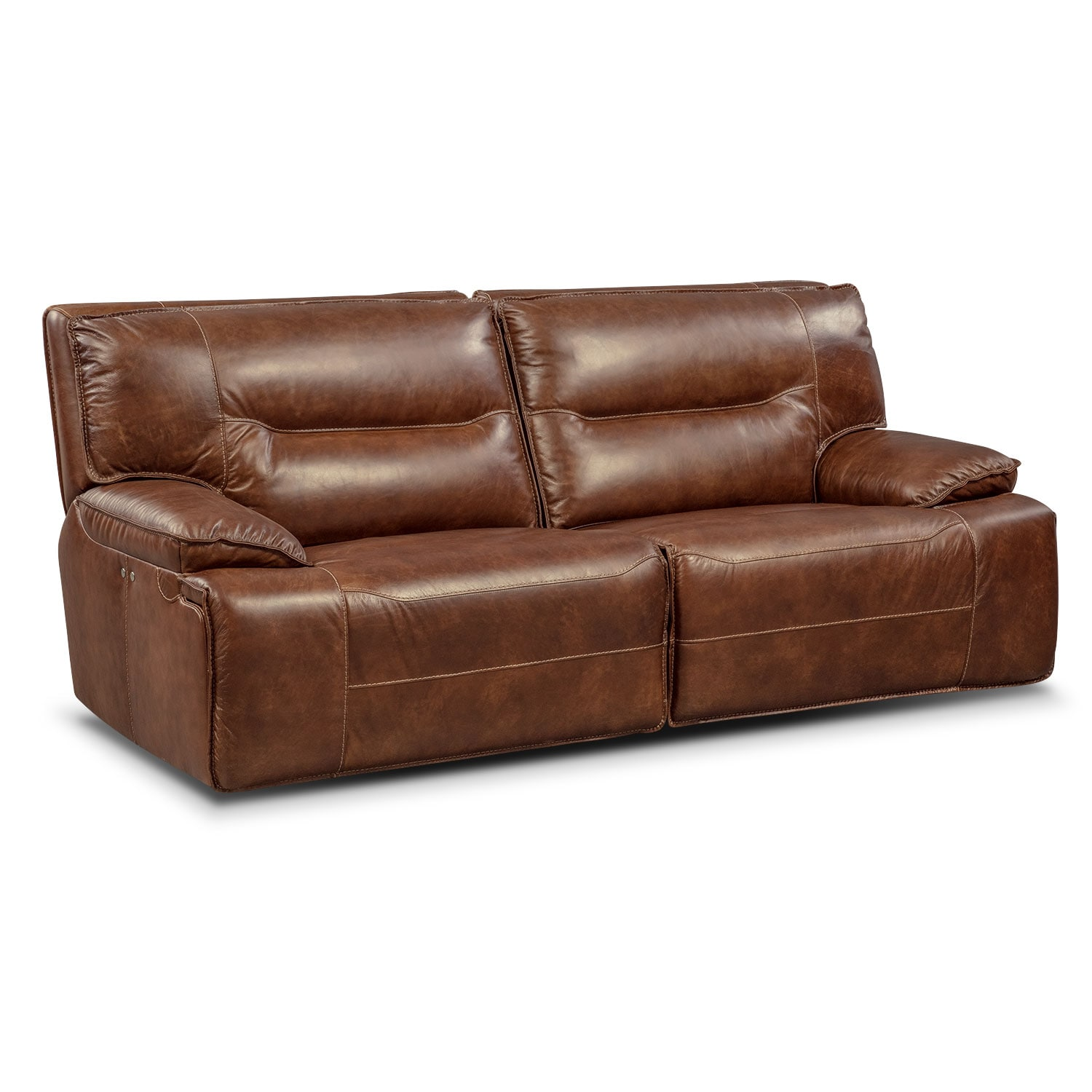 Living Room Furniture - Glenmont Brown 2 Pc. Power Reclining Sofa