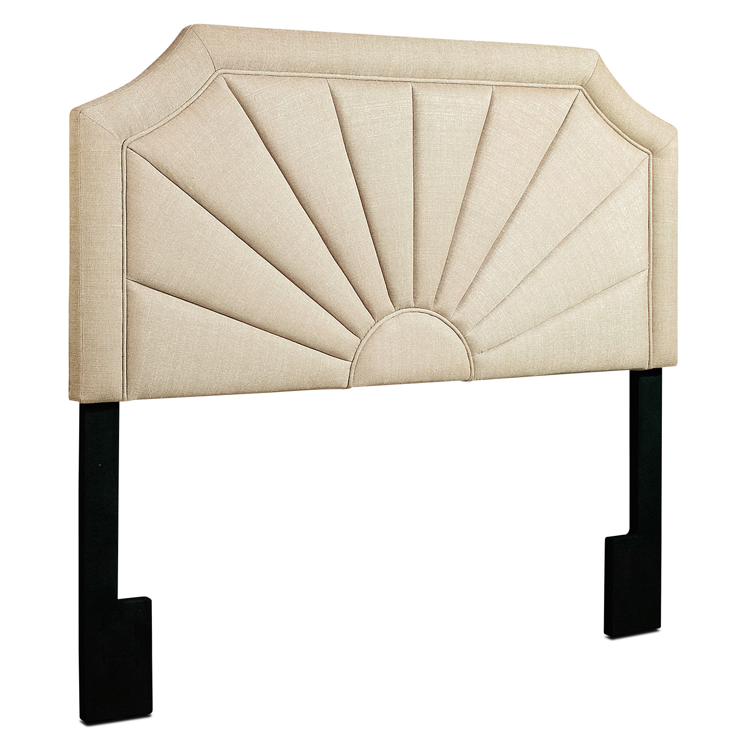 Bedroom Furniture - Tinley King Headboard - Ivory