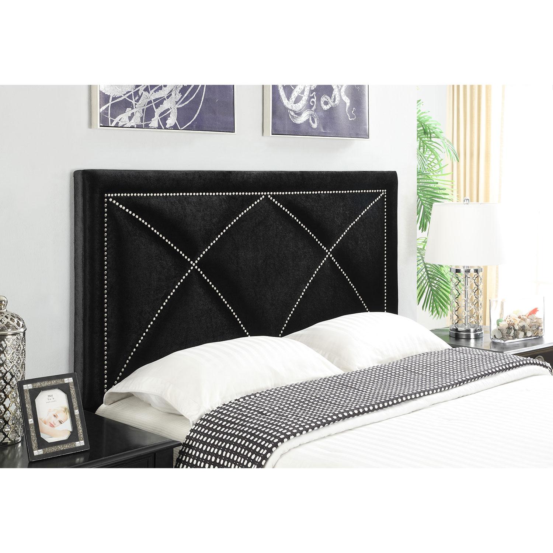 Bedroom Furniture - Keegan Queen Headboard - Black