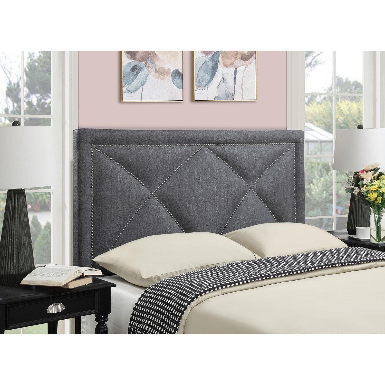Bedroom Furniture - Keegan Queen Headboard - Gray