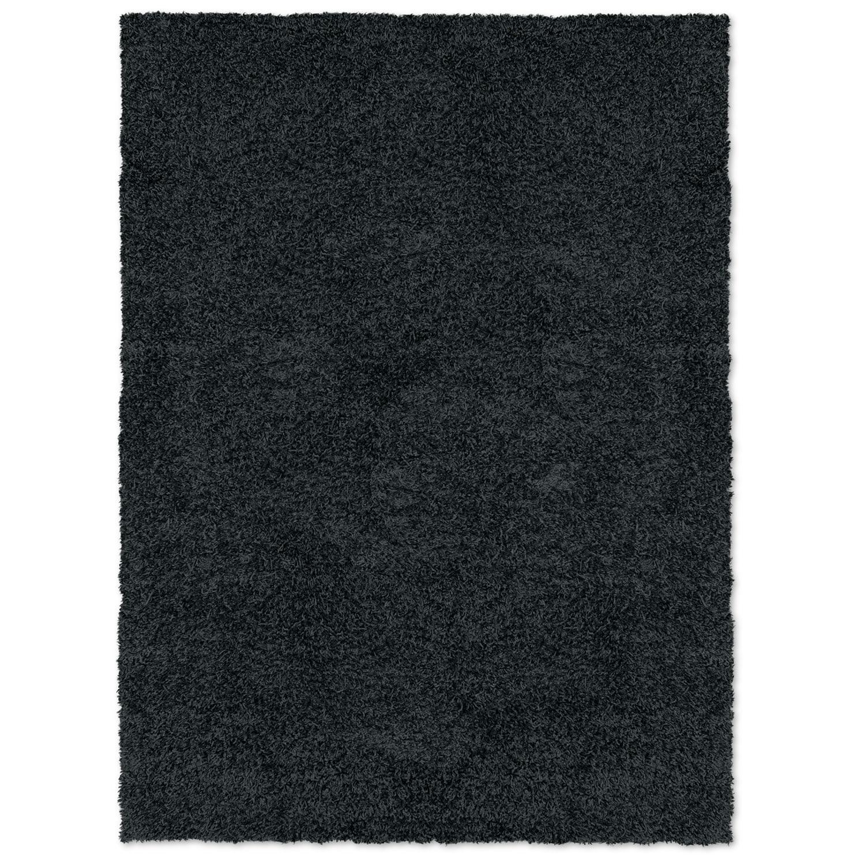Domino Black Shag Area Rug (8' x 10')