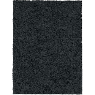 Domino Shag 8' x 10' Area Rug - Black