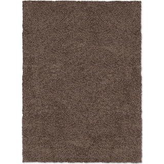 Comfort Shag 8' x 10' Area Rug - Chocolate