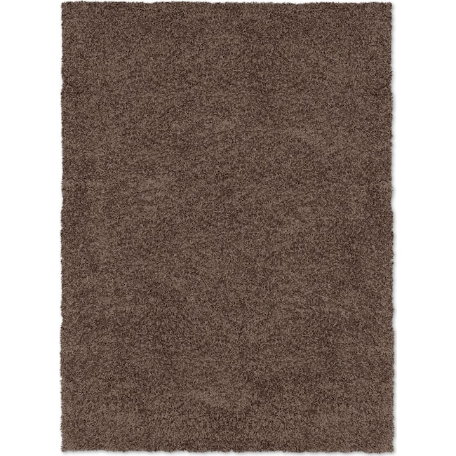 Rugs - Comfort Shag 8' x 10' Area Rug - Chocolate