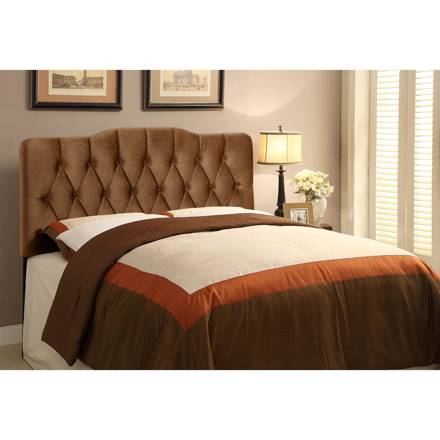 Bedroom Furniture - Quinn King Headboard - Bronze