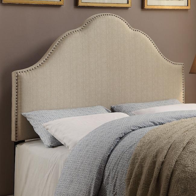 Bedroom Furniture - Delaney Queen Headboard - Oatmeal