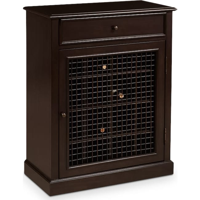 Accent and Occasional Furniture - Wentworth Wine Cabinet - Cherry