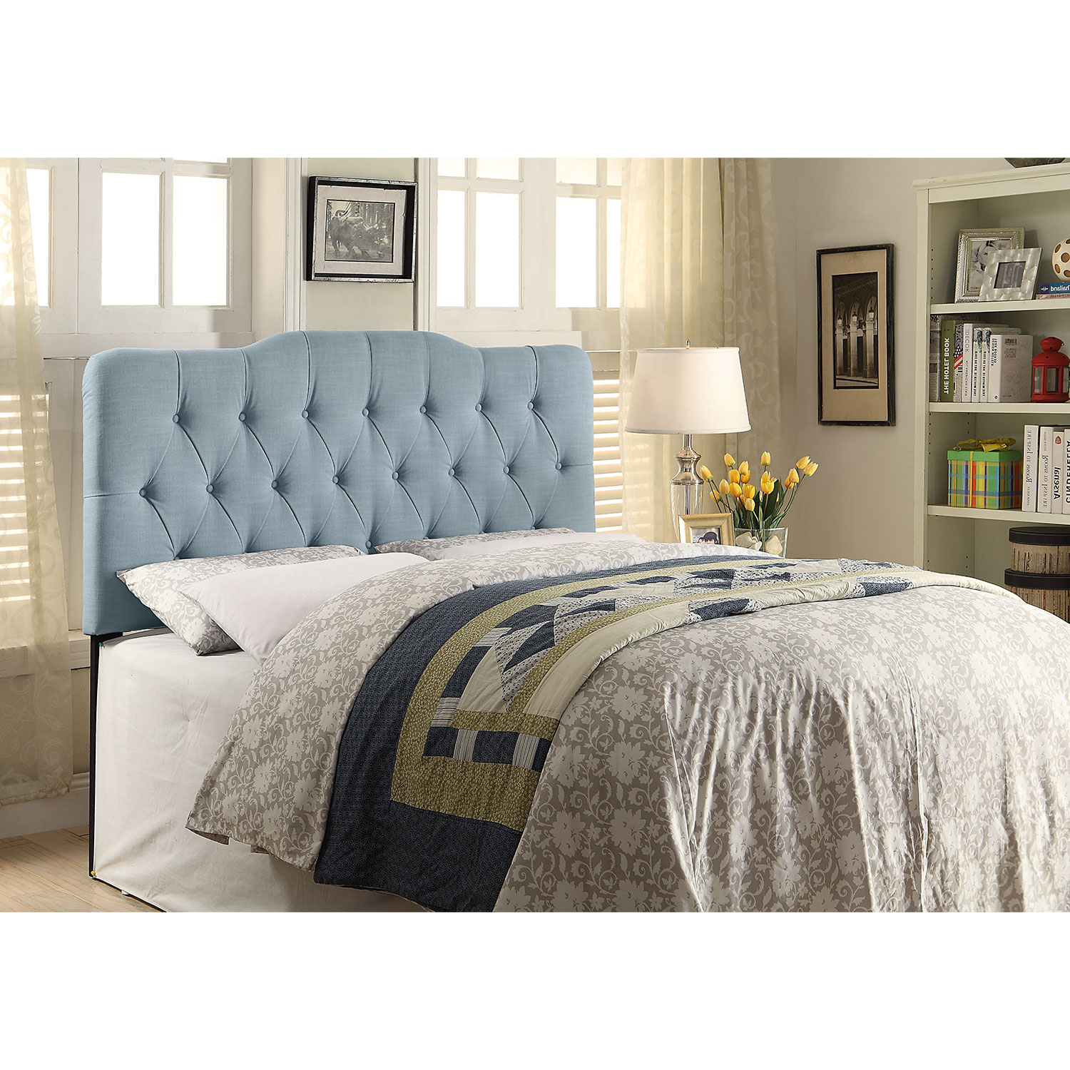 Quinn King Headboard - Blue