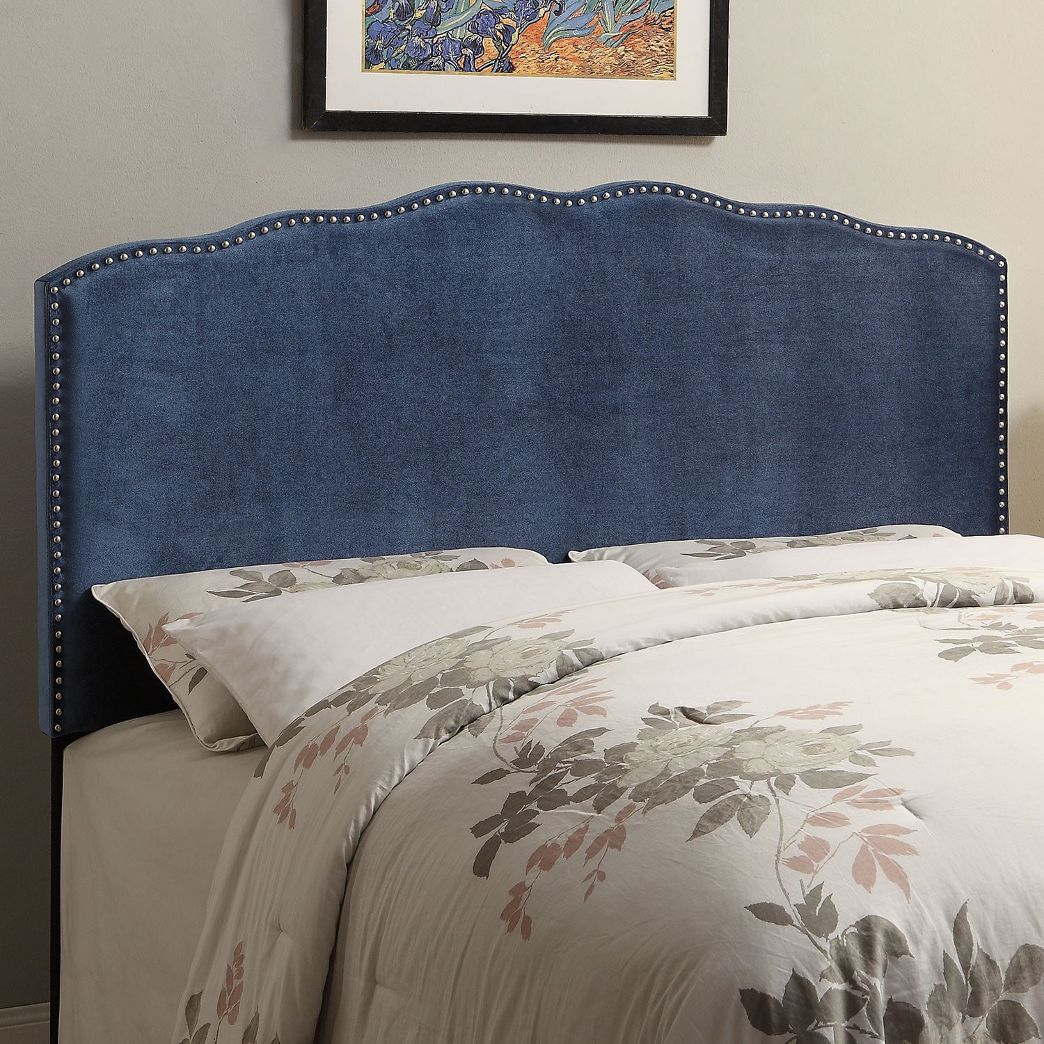 Layla King Headboard - Indigo
