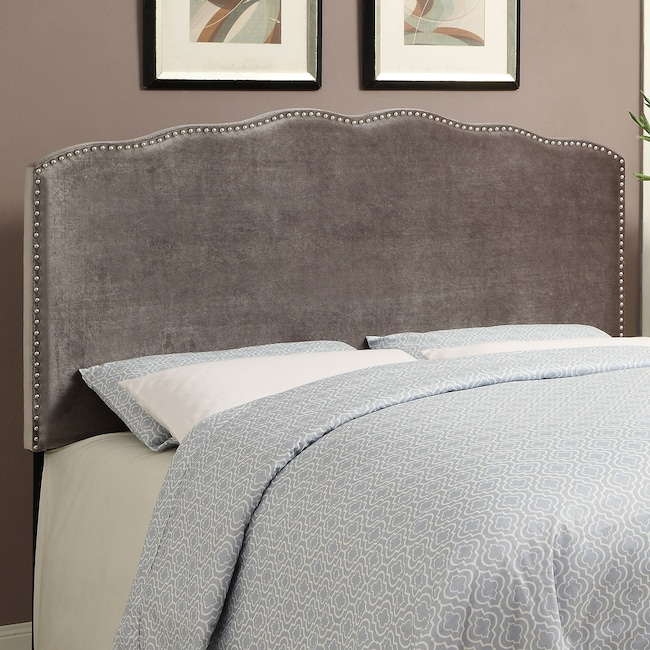 Bedroom Furniture - Layla Queen Headboard - Platinum