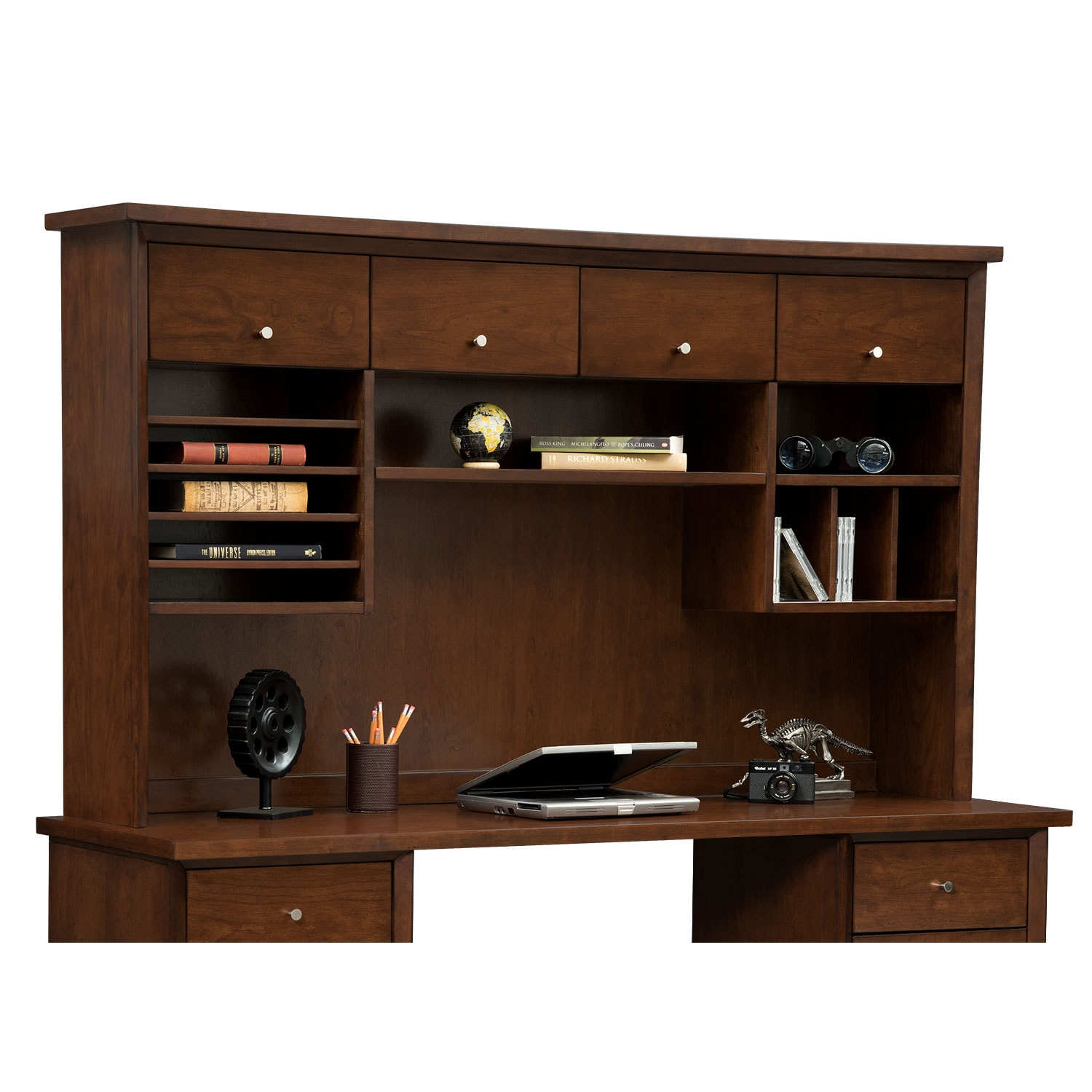 Home Office Furniture - Oslo Cherry 4-Door Hutch
