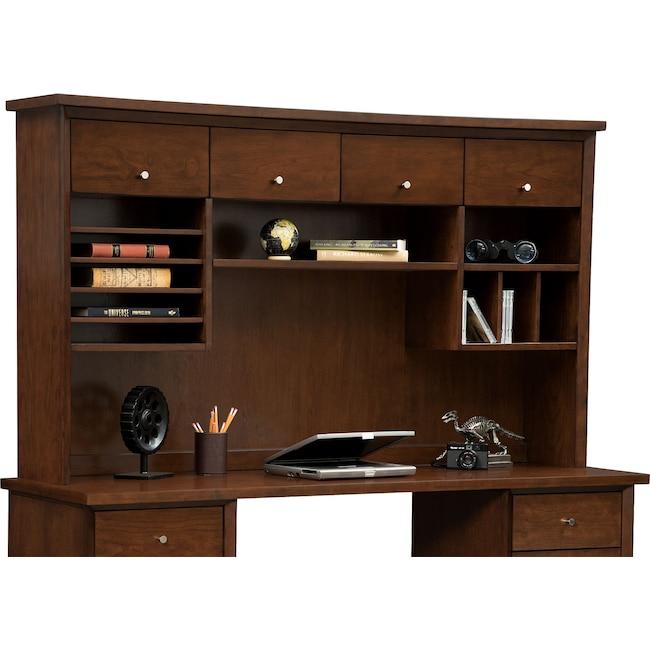 Home Office Furniture - Oslo 4-Door Hutch - Cherry