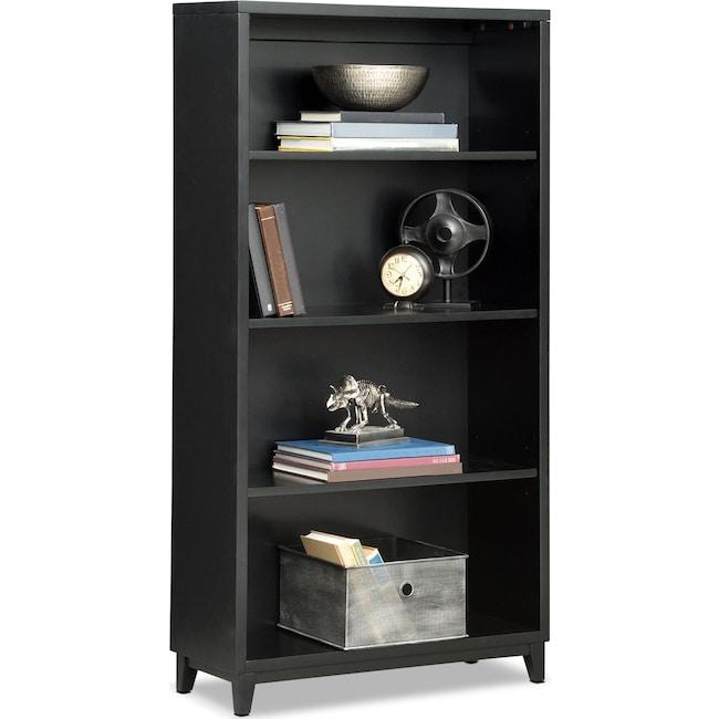 "Home Office Furniture - Oslo 58"" Bookcase - Black"
