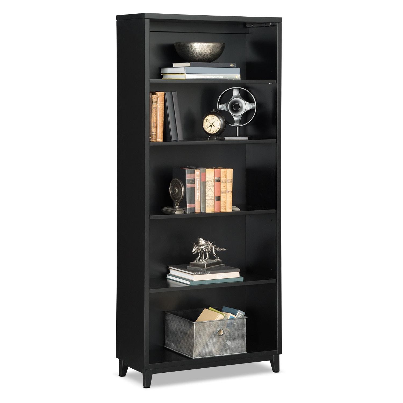 """Oslo 70"""" Bookcase - Black"""