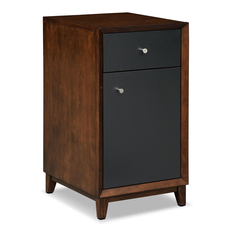Home Office Furniture - Oslo Black Door File Cabinet
