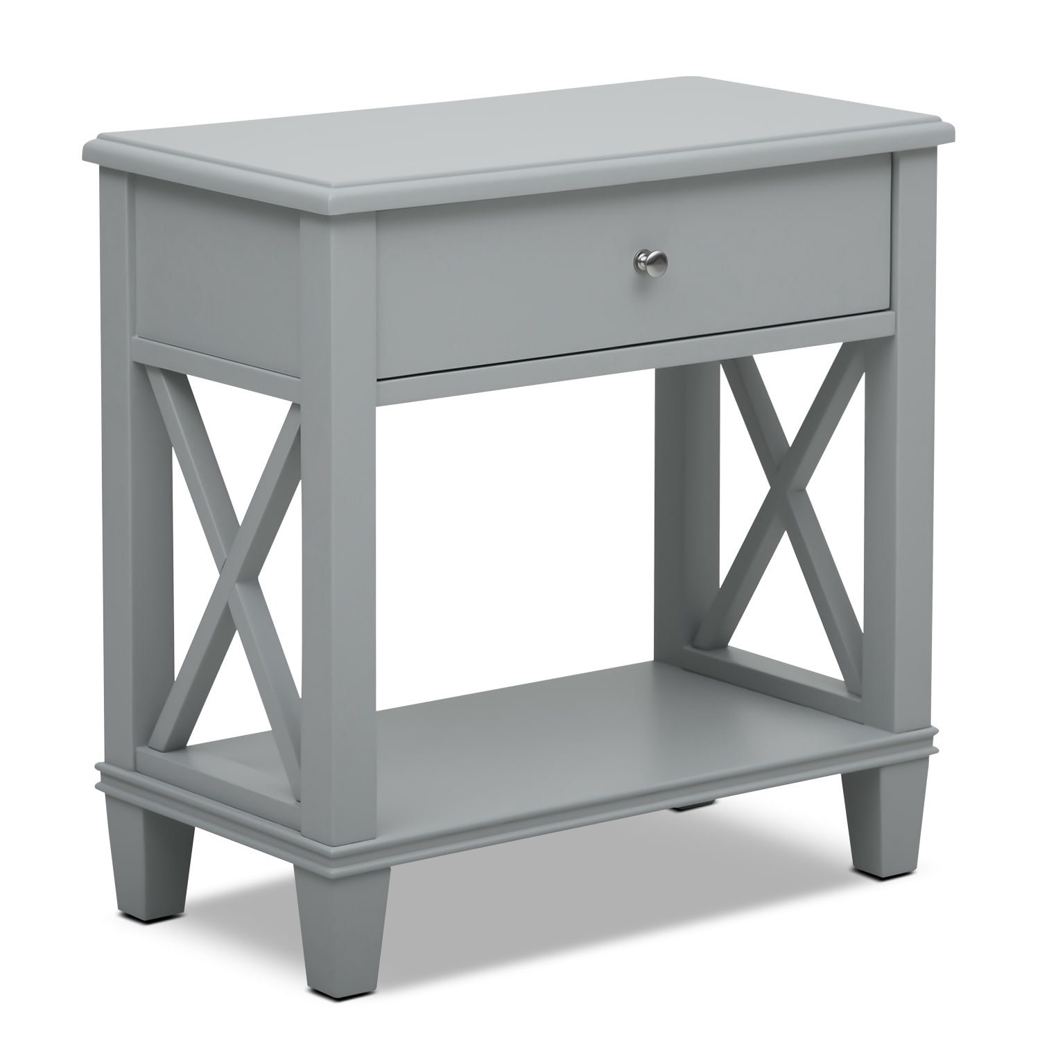 Accent and Occasional Furniture - Liat Accent Table - Gray