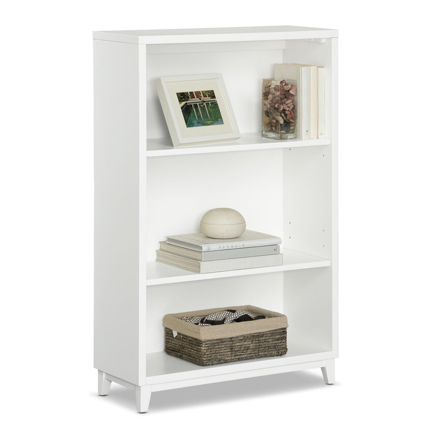 "Oslo 46"" Bookcase - White"