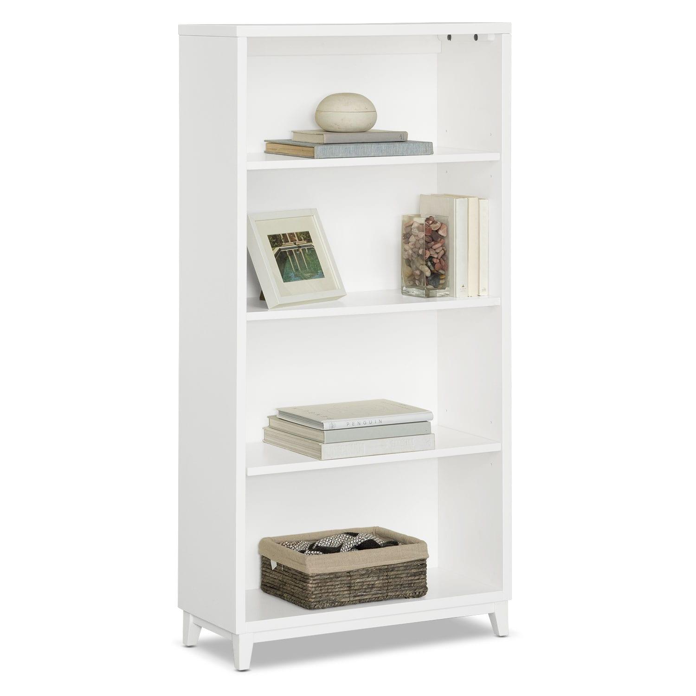 """Oslo White 58"""" Bookcase"""